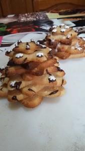 Biscuits Étoile de Noël aux épices  monté en Sapin